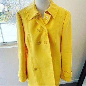 NWT Anne Taylor Loft Yellow Trench Coat